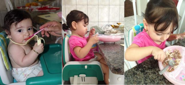 Na primeira foto Lara com 6 meses e meio, nas outras duas com 1 ano e 9 meses.