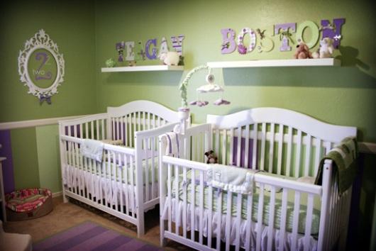 quarto-bebe-gemeos-verde-branco