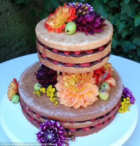 http://www.dailymail.co.uk/femail/food/article-2662818/Introducing-naked-cake-New-wedding-dessert-trend-unfrosted-edges-exposes-delicious-flavors-inside.html