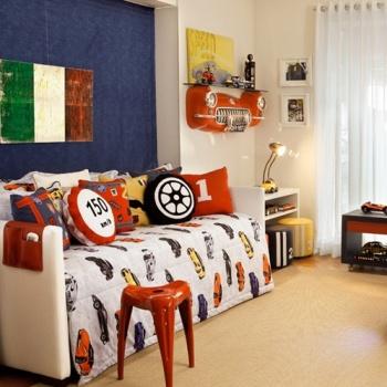Esse quarto com tema de esportes ficou original e cheio de detalhes lindos. Amei.