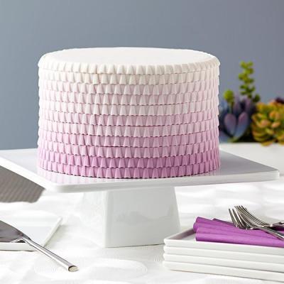 http://www.wilton.com/idea/Purple-Ombre-Ruffled-Cake