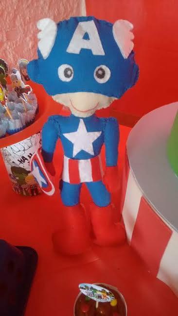 Que fofura esse Capitão América!