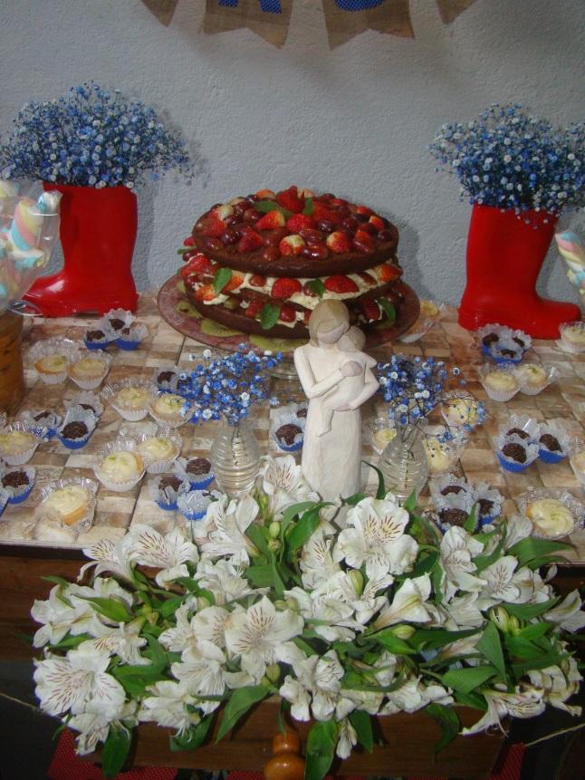 Mais uma da mesa com esse bolo e essa imagem maravilhosa!!!